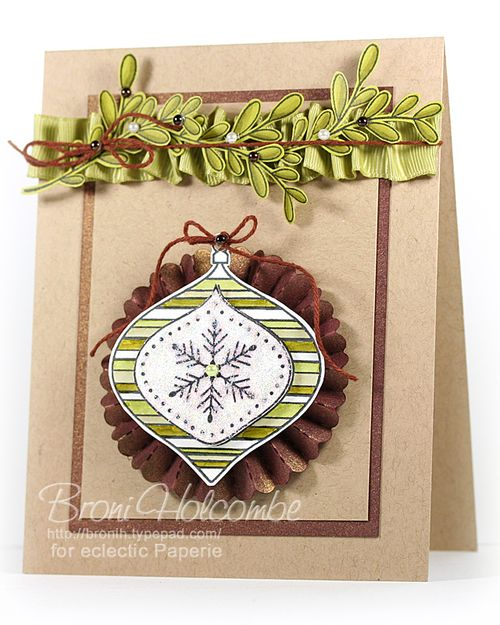 Rosette Ornament card