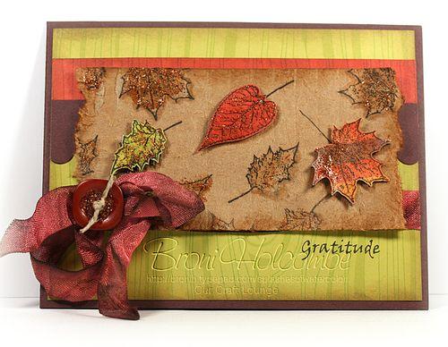 Leaves on Cardboard