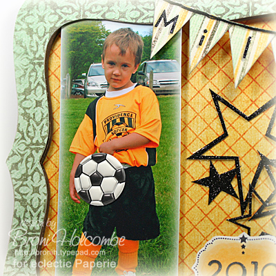Miles Soccer photo sticker closeup