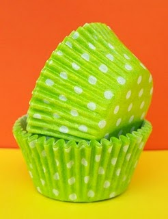 Lime Polka Dot Cupcake Liner from TheBirthdayHouse