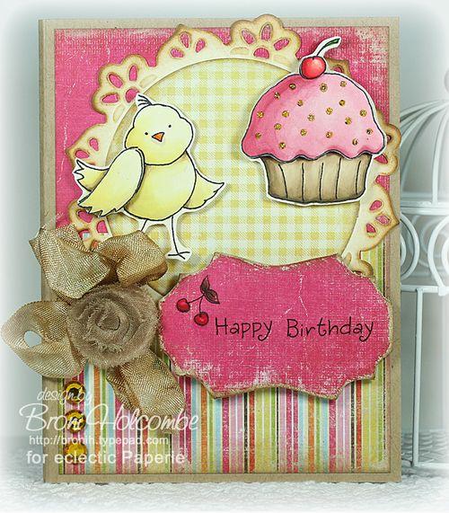 Birdy Birthday Cupcake
