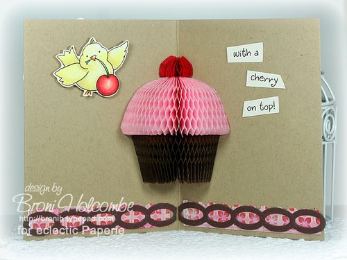 Birdy Birthday Cupcake inside