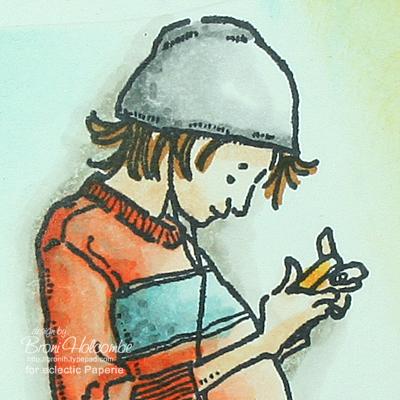 Paul Texting head