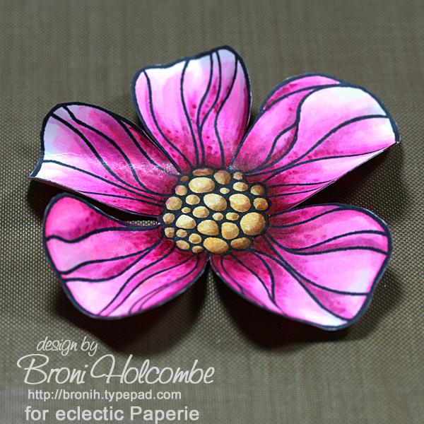 Fuschia curled petals