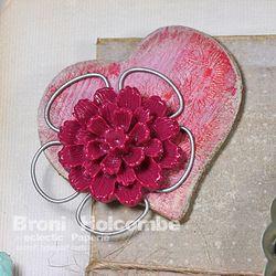 Love Frame Heart with Resin Flower