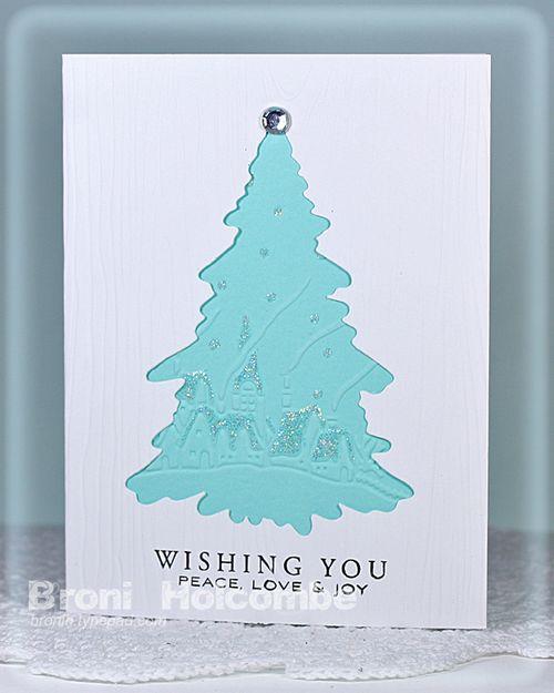 Blue Christmas card 2011