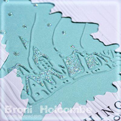 Closeup Blue Christmas card 2011