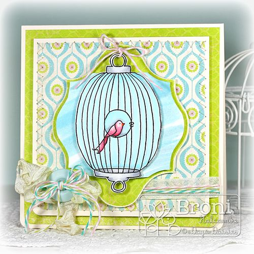 Oval Bird Cage card