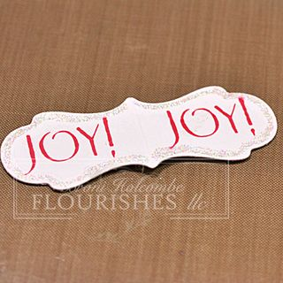 Joy & Holly Ornament 1
