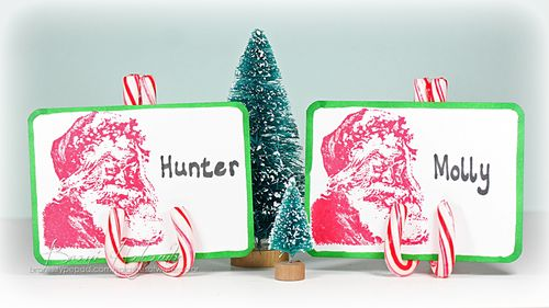 2012 Candy Cane Placecard Holder