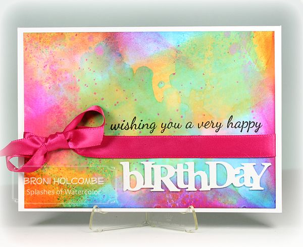 CTD255 Watercolor Birthday