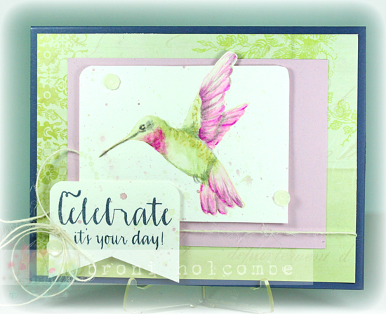 CTD306 Watercolor Hummingbird2