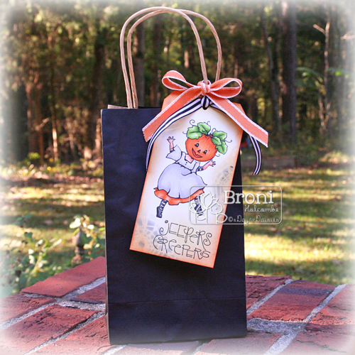 102315 ADFD Dancing Pumpkin 2 Treat Bag