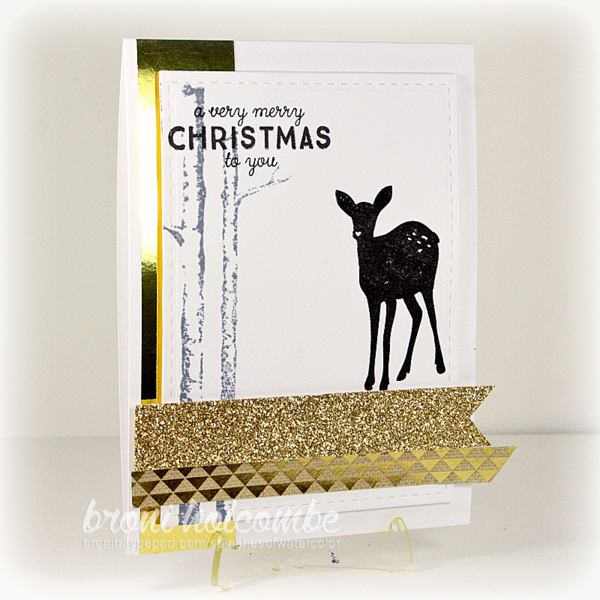 120215 CTD371 Gold Black White Christmas