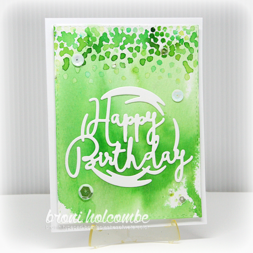 070616 Happy Birthday Green Confetti2