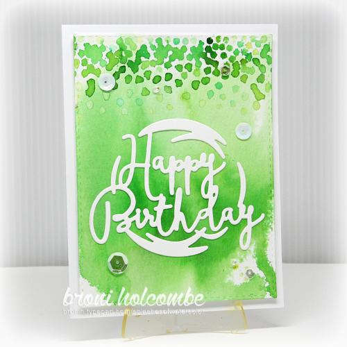 070616 Happy Birthday Green Confetti2