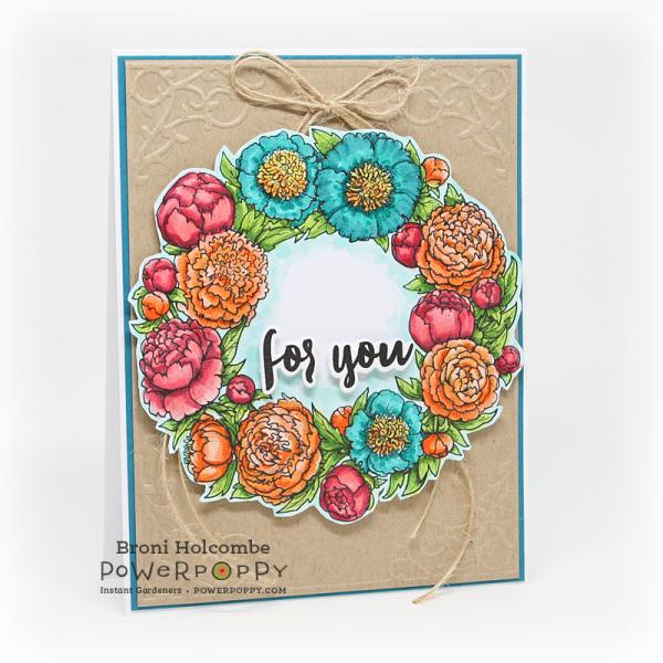 102616 CTD416 Peony Love Wreath