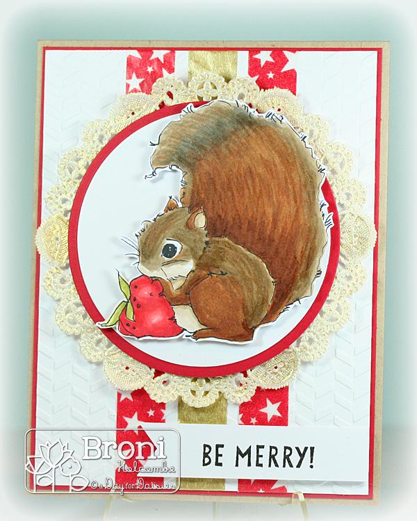 ADFD Freebie Squirrel with Strawberry