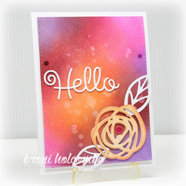 071316 CTD401 Bold Blossoms Hello