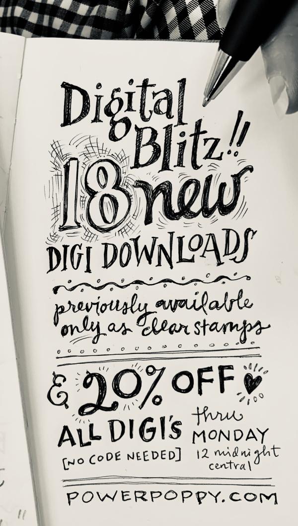 Power Poppy Digital Blitz Release Splashes Of Watercolor